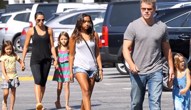 Ο Matt Damon με την οικογένειά του