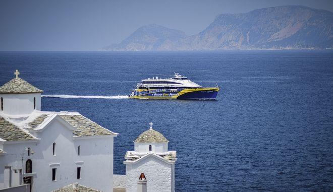 Πρώτη άφιξη του super speed από τη Θεσσαλονίκη στο λιμάνι Σκοπέλου