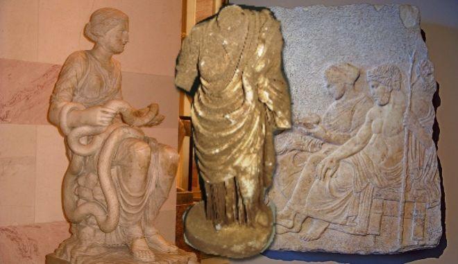 Το άγαλμα της Θεάς Υγείας που βρέθηκε στα λάφυρα των αρχαικάπηλων