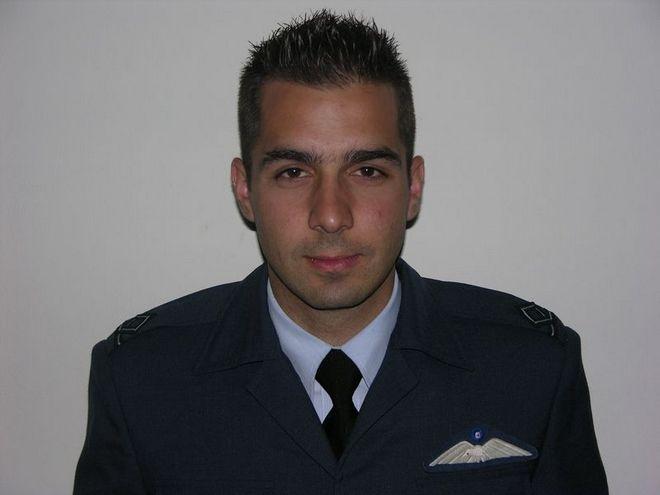 Ο κυβερνήτης του μονοθέσιου αεροσκάφους M2000-5 της 114ΠΜ/331Μ, Σμηναγός Γεώργιος Μπαλταδώρος