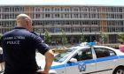 Αστυνομικός μπροστά από το Δικαστικό Μέγαρο Θεσσαλονίκης