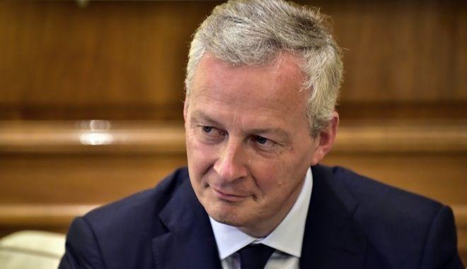 Ο Γάλλος Υπουργός Οικονομικών, Μπρούνο Λεμέρ.
