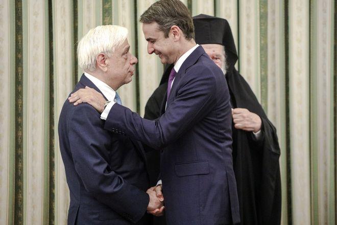 Ορκωμοσία του νέου Πρωθυπουργού Κυριάκου Μητσοτάκη στο Προεδρικό Μέγαρο την Δευτέρα 8 Ιουλίου 2019.