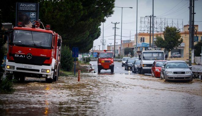 Πλημμυρισμενη η Λεωφόρος Μαραθώνος τον Σεπτέμβριο του 2018