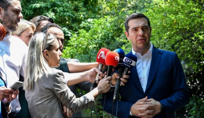 Δηλώσεις του Πρωθυπουργού Αλέξη Τσίπρα στο Μέγαρο Μαξίμου