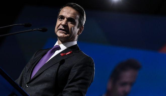 Ο Κυριάκος Μητσοτάκης στο 13ο Συνέδριο της Νέας Δημοκρατίας.