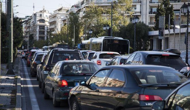Αυξημένη κίνηση στο κέντρο της Αθήνας
