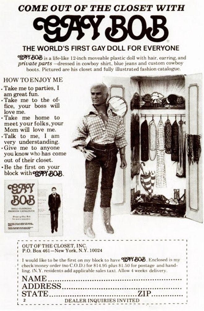 Μηχανή του Χρόνου: Βοb, η πρώτη ομοφυλόφιλη κούκλα που ξεσήκωσε τις ΗΠΑ των 70's