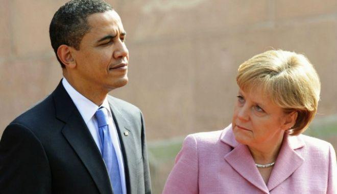 Η Μέρκελ συναντά Ομπάμα πριν την έναρξη των G7 στο Βερολίνο