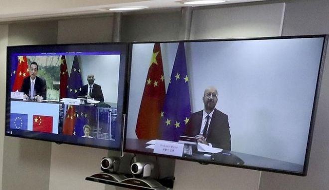 """Ευρωπαϊκή Ένωση-Κίνα: """"Στα ύψη"""" η διπλωματική ένταση"""
