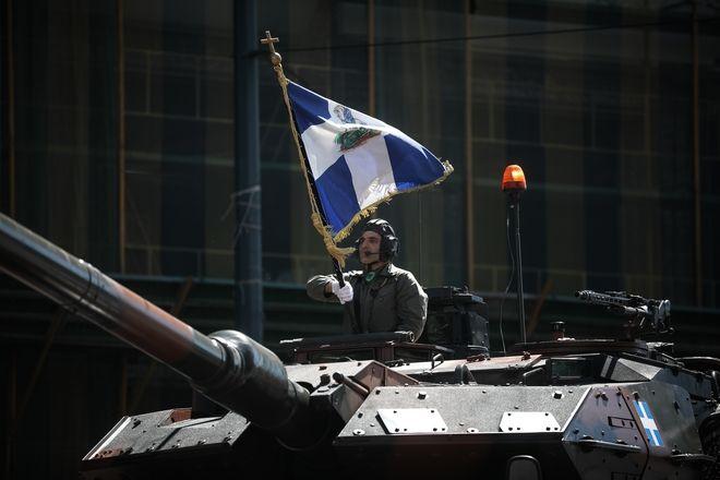 Στρατιωτική παρέλαση στην Αθήνα για την εθνική επέτειο της 25ης Μαρτίου 1821, την Δευτέρα 25 Μαρτίου 2019. (EUROKINISSI/ΣΤΕΛΙΟΣ ΜΙΣΙΝΑΣ)