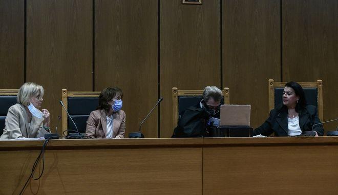 Ενδέκατη ημέρα από την απόφαση στην δίκη της Χρυσής Αυγή, Τετάρτη 21 Οκτωβρίου 2020. (EUROKINISSI/ΤΑΤΙΑΝΑ ΜΠΟΛΑΡΗ)