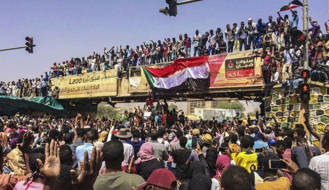 Από διαδήλωση στο Χαρτούμ