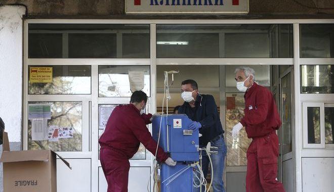 Εργαζόμενοι στον τομέα της υγείας στη Βόρεια Μακεδονία