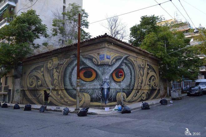 Το αθηναϊκό γκράφιτι που έγινε παγκόσμιο viral