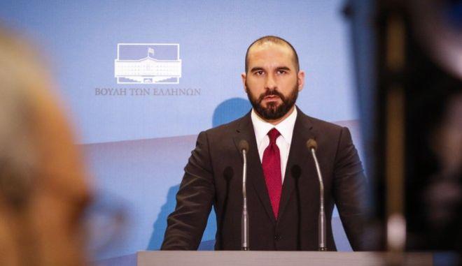 Ανακοίνωση του Κυβερνητικού Ανασχηματισμού από τον Κυβερνητικό Εκπροσώπο Δημήτρη Τζανακόπουλο, Τετάρτη 28/2/2018. (EUROKINISSI/ΚΟΝΤΑΡΙΝΗΣ ΓΙΩΡΓΟΣ)