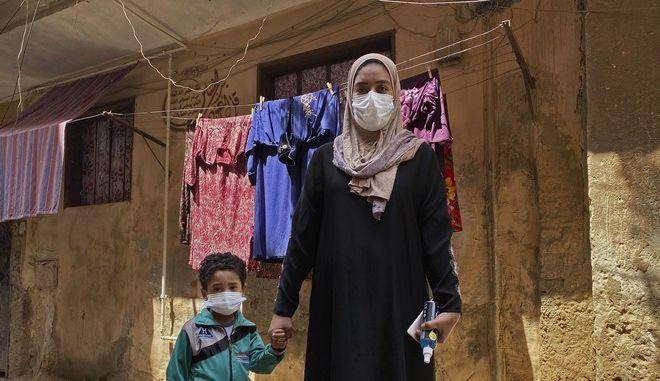 Μητέρα και παιδί στην Αίγυπτο