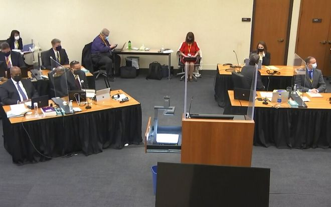 Στιγμιότυπο από την δικαστηική αίθουσα.