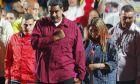 O Νικολάς Μαδούρο καταφτάνει στο Προεδρικό Μέγαρο μετά την νίκη του στις εκλογές