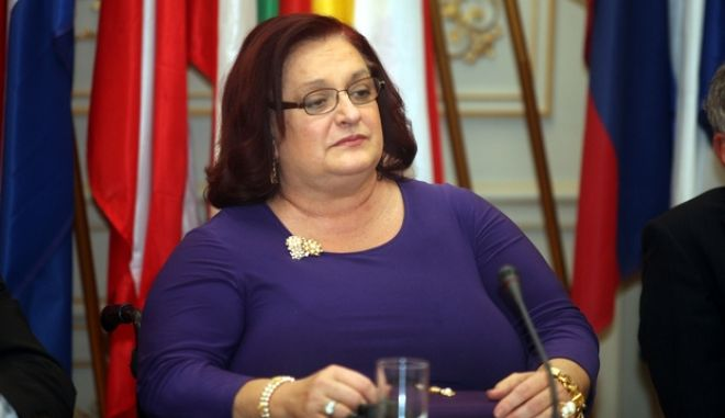 Εκδήλωση, την Τετάρτη 6 Μαρτίου 2013, στα γραφεία του Ευρωπαϊκού Κοινοβουλίου στην Αθήνα για το μέλλον της ΕΕ σε συνάρτηση με την οικονομική κρίση με ομιλητές τους: Αντιπροέδρους του Ευρωπαϊκού Κοινοβουλίου Άννυ Ποδηματά, Γιώργο Παπαστάμκο και Othmar Karas, την επικεφαλής της Κοινοβουλευτικής Αντιπροσωπείας της ΝΔ στο ΕΚ, Μαριέττα Γιαννάκου και την ευρωβουλευτη, Μαριλενα Κοππά. (EUROKINISSI/ΣΥΝΕΡΓΑΤΗΣ)