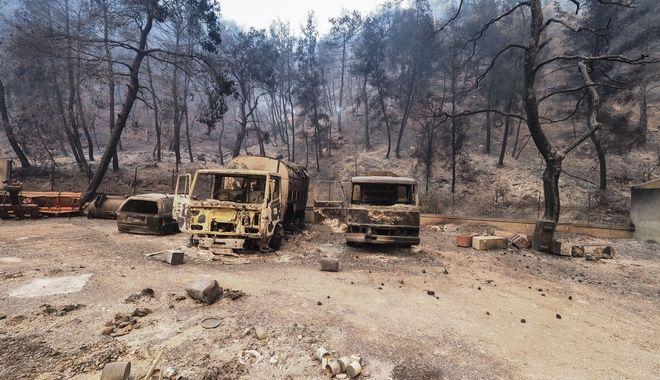 Εικόνες από την καταστροφική φωτιά στην Εύβοια