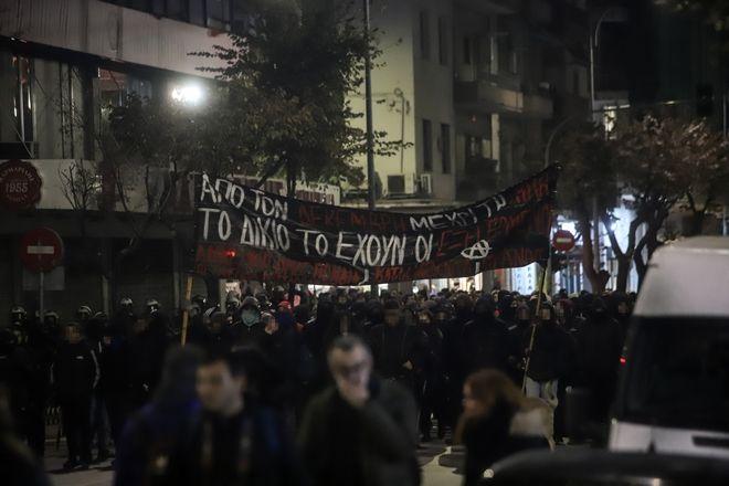Συγκέντρωση και πορεία στη Θεσσαλονίκη για την 11η επέτειο της δολοφονία του Αλέξη Γρηγορόπουλου
