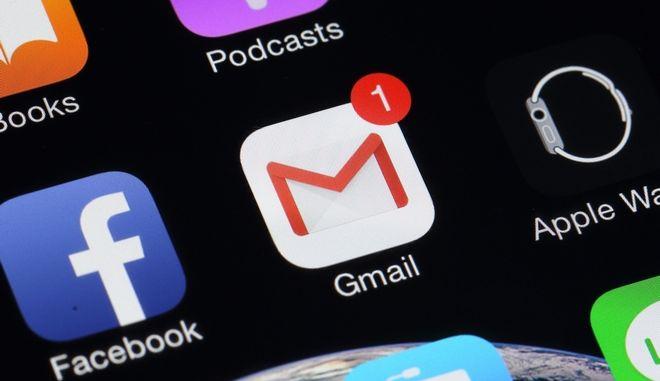 Εφαρμογή του gmail στο smartphone