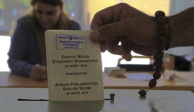 Στιγμιότυπο από τις ευρωεκλογές στην Λευκωσία