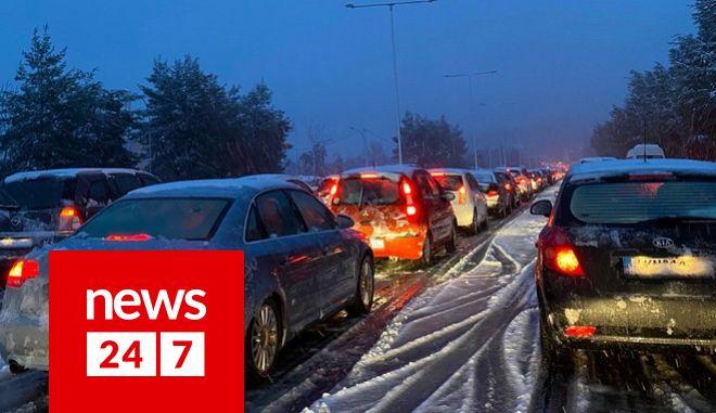 Ακινητοποιημένα οχήματα στην Αθηνών - Λαμίας