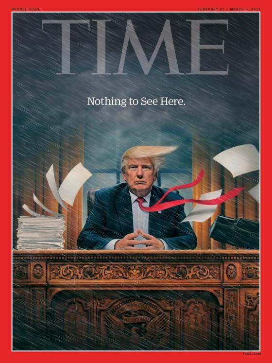 Το Time αποδομεί τον 'Βασιλιά Τραμπ'