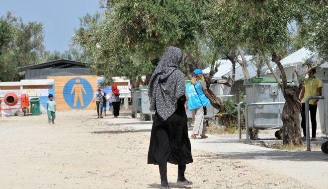 Το κέντρο φιλοξενίας προσφύγων του Δήμου Λέσβου στον Καρά Τεπέ