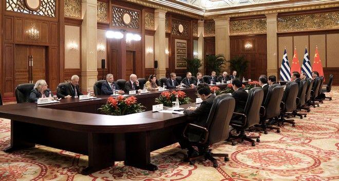 Συνάντηση του Κυριάκου Μητσοτάκη με τον πρόεδρο της Κίνας Xi Jinping