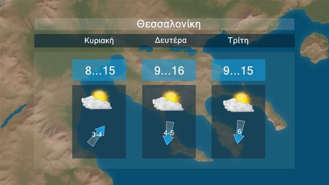 Καιρός: Σχεδόν αίθριος καιρός και κανονικές θερμοκρασίες