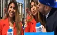 Οπαδός επιτίθεται σεξουαλικά σε Κολομβιανή δημοσιογράφο on camera