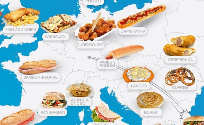 Ο ευρωπαϊκός χάρτης του Street Food