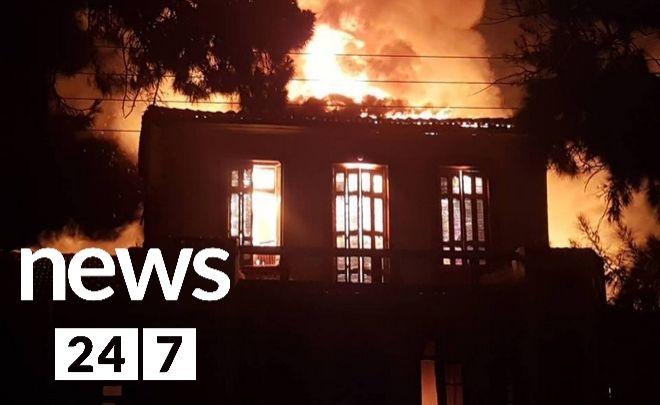 Χανιά: Κάηκε ολοσχερώς το Πολεμικό Μουσείο