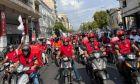 Efood: Μαζική κινητοποίηση από διανομείς οδηγούς δικύκλων - 24ωρη απεργία την Παρασκευή